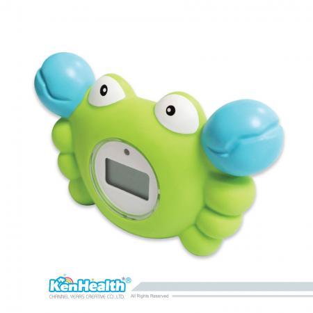 Thermomètre de bain bébé crabe - L'excellent outil de thermomètre pour préparer la bonne température de bain, apporte un plaisir de bain sûr et pour les bébés.