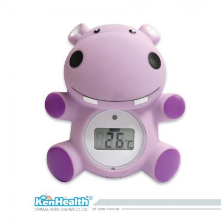 Thermomètre de bain bébé hippopotame - L'excellent outil de thermomètre pour préparer la bonne température du bain, apporter un bain sûr et amusant pour les bébés.