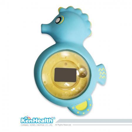 Thermomètre de bain bébé hippocampe - L'excellent outil de thermomètre pour préparer la bonne température de bain, apporte un plaisir de bain sûr et pour les bébés.