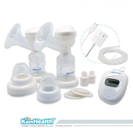 Tire-lait à double alimentation - Aidez maman à recueillir le lait maternel pour nourrir bébé.