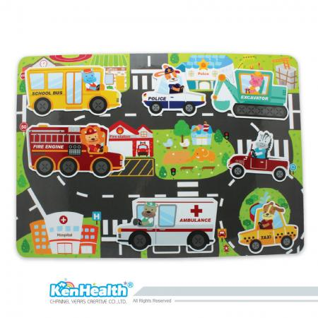 Educational Magnet Board City - Fun Magnetic Game for Kids.