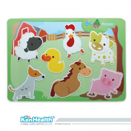 Educational Magnet Board Farm - Fun Magnetic Game for Kids