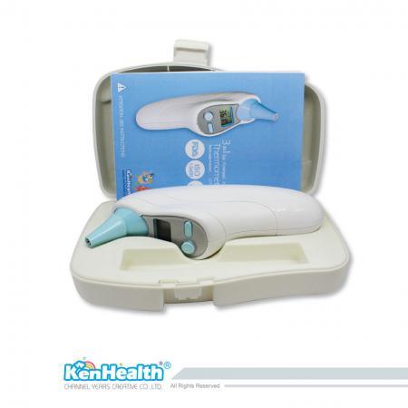 Thermomètre électronique oreille et front et amibient - Équipé d'une technologie infrarouge avancée, mesure précise et rapide de la température de l'oreille ou du corps.