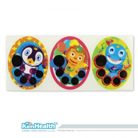 Forehead Thermometer Strip (Penguin / Lion / Whale)