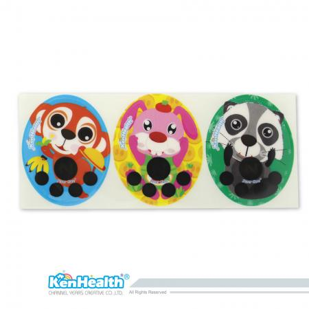 Forehead Thermometer Strip Fahrenheit (Monkey / Rabbit / Raccoon)