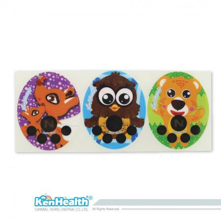 Forehead Thermometer Strip Fahrenheit (Deer / Owl / Leopard)