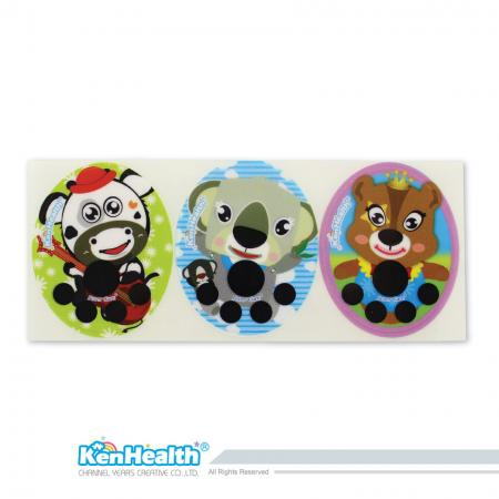 Forehead Thermometer Strip Fahrenheit (Cow / Koala / Bear)
