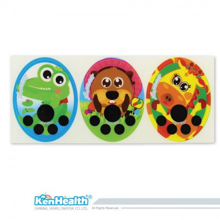 Forehead Thermometer Strip Fahrenheit (Crocodile / Marmot / Giraffe)
