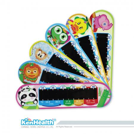Forehead Thermometer Strip Colorful - The forehead temperature strip for forehead temperature measurement.