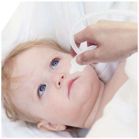 Baby Nasal Aspirator - Self-adjustable suction and unique anti-backflow design for users to feel at ease when using.