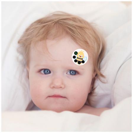Thermomètre frontal - Surveillez les changements de température de bébé à tout moment, facile à transporter, adapté à une utilisation à la maison ou en voyage.