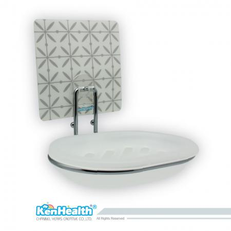 Seamless Hook for Soap White Plastic Case with Metal - Draining soap case, soap is no longer wet.