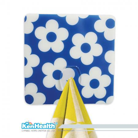 Seamless Small Hook Square Shape Sticker - Don't need to worry about holes in the wall with seamless hook.