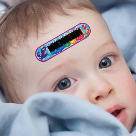 just place the forehead thermometer on the forehead to check body temperature.