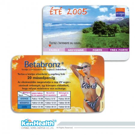 UV Sensor Card - Detect UV intensity to reduce sunburn potential.