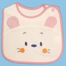 Bavoir-Ours en Coton - La couche inférieure en tissu imperméable et respirant est confortable à porter. Pas de fuite et de tache avec les vêtements, également de la chaleur diffuse