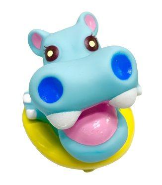 Vélo Horns-Hippo - Il peut émettre un son avec un léger pincement sur la corne en forme d'animal