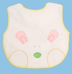 Bavoir en microfibre-Lapin - La couche inférieure en tissu imperméable et respirant est agréable à porter. Pas de fuite et de tache avec les vêtements, également la chaleur diffuse