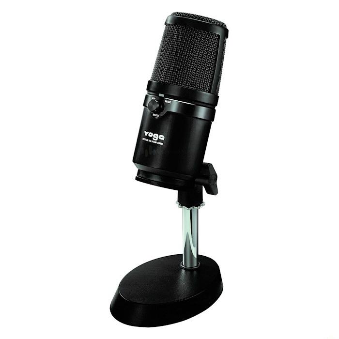 Desktop USB Microphone, W / Mic Mute Button & Headphone Volume Control - Desktop USB Microphone.