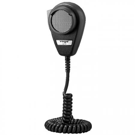 Dynamic Noise Canceling CB Microphone W / Molded Lip Guard on Housing - CB Microphone with 4P connector.