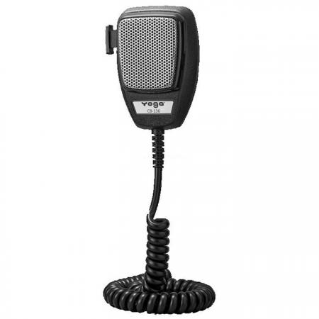 Dynamic CB Microphone with Molded Strain Relief, for Radio and PA Usage - CB Microphone for Radio & PA System.