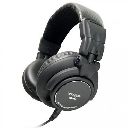 Over-The-Ear DJ Headphones with Alum. Machined End Caps - Closed-Back DJ Headphones.