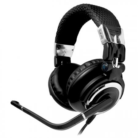 Stereo Headset with On-Line Switch Box, for Live Chat or Gaming - Stereo Headset CD-315MV.