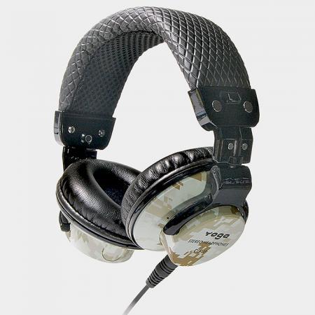 可折疊式迷彩圖案 DJ耳機 - 耳罩式DJ耳機。
