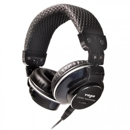 Collapsible DJ Headphones with Aluminum Machined End Caps - Quality DJ Headphones CD-88 PRO.