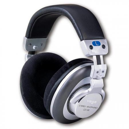 Premium Foldable Over-the- Ear DJ Headphones - Foldable DJ Headphones with alum. end caps.