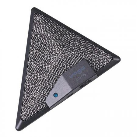 USB Boundary Microphone for Con-Calls, Rugged Zinc Housing - Tabletop USB Boundary Microphone.