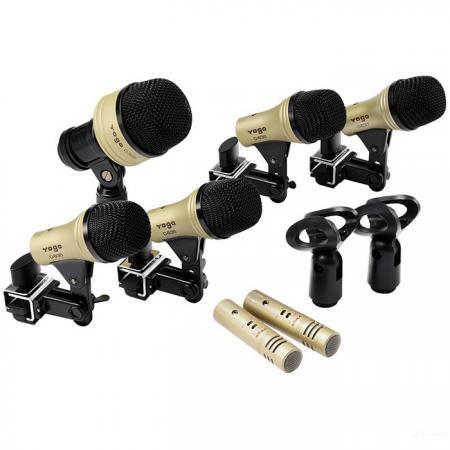鼓組麥克風套件 (七件裝) - 七件裝鼓組麥克風套組 D-636-7。