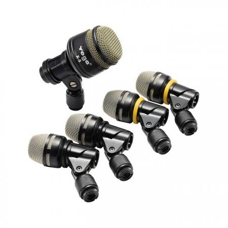 5-Piece Pack Drum Microphone in Dynamic Type - 5-PC Pack Dynamic Drum Microphone Kit DX-5.