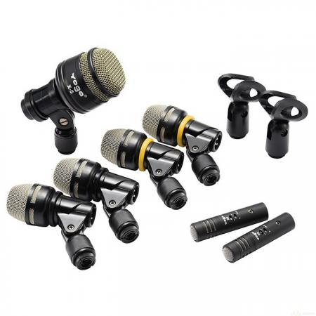 7-Piece Drum Microphones Kit for Beginners - 7-Piece Drum Microphone Kit DX-7.