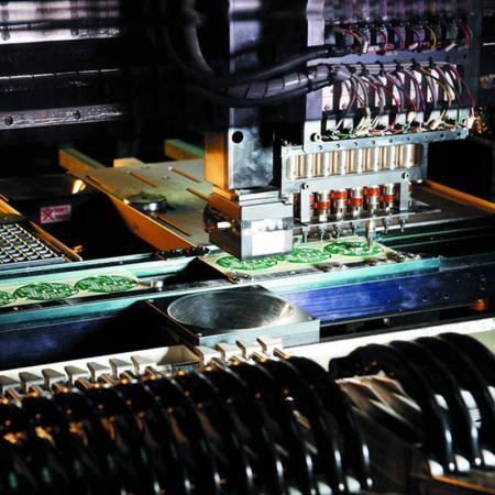 工廠SMD件插片機。