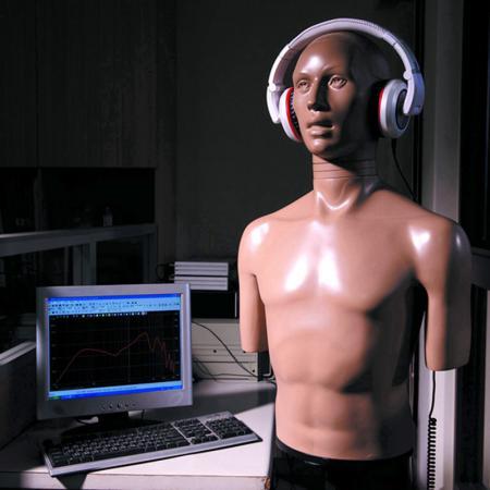 電子仿真耳檢測。