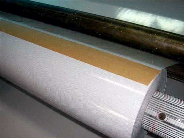 Self Cling Static Vinyl with Perforation - White