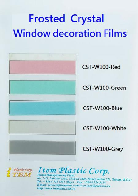 Color Swatch-Frosted Window Decorative