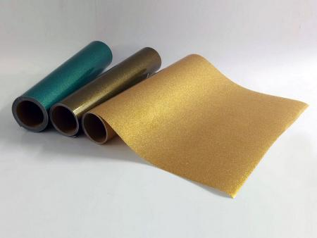 Gold Glitter Decorative Film - Transparent Gold Glitter Film