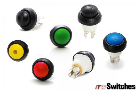 12mm 5A/28VDC SnapAction Pushbutton - SA48 Snap Action Switch