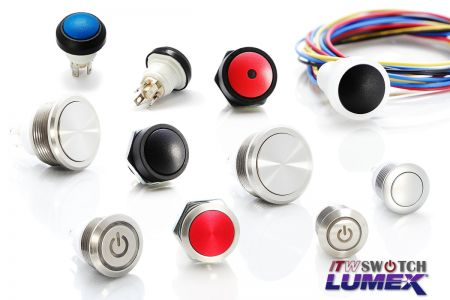 5Amp Snap Action Pushbutton Switches - Snap Action Pushbutton Switches