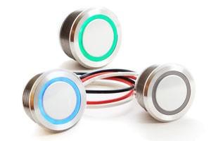 Interrupteurs tactiles en métal scellés par panneau