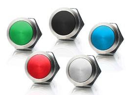 Interrupteurs à bouton en métal scellés par panneau Ø19mm