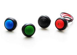 Ø12 mm panelförseglade knappbrytare