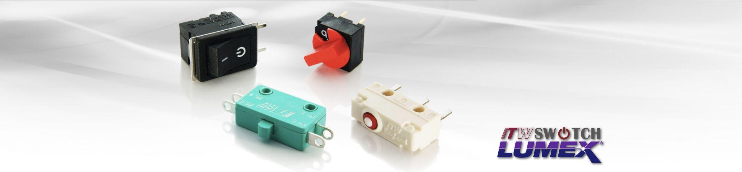 Mikro-, Wipp- und       Überbrückungsschalter