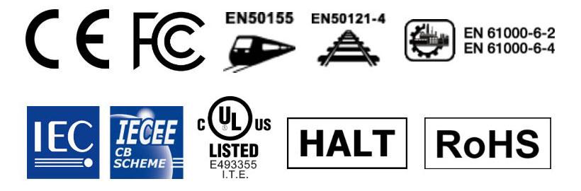 تحصل منتجات Proscend على معايير الاتصالات الدولية وشهادات السلامة.