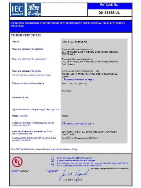 Lite Industrial Ethernet Extender 100MI CB Certificate