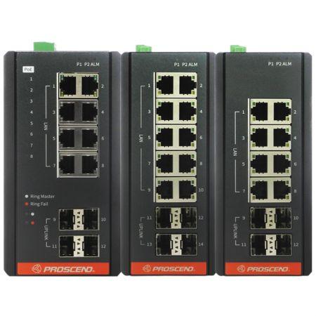 Industriële GbE beheerde switch - Industriële GbE Managed Switch met PoE- en niet-PoE-serie