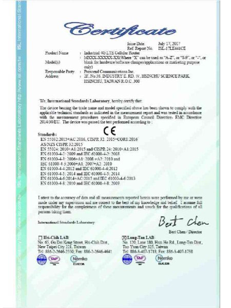 Industrial VPN IoT Cellular Router M30x CE Sertipiko