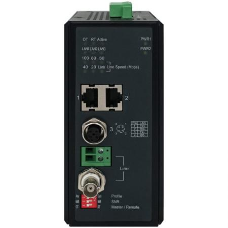 Industrial VDSL2 Ethernet Extender 701MI Series - Industrial-grade 2-port 10/100Base-T RJ-45 Ethernet Extender with M12 connector